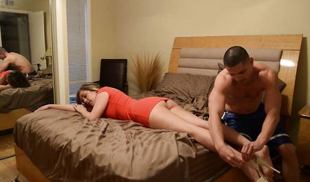 Пьяная жена пришла от любовника и получила горячий секс от мужа