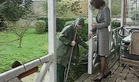 Садовник подарил госпоже мощный фистинг