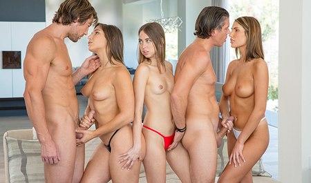 Популярное групповое порно, порно звезды борются
