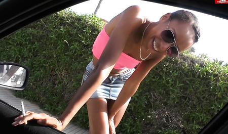 Немецкий водитель снял негритянку и шарахнул ее в ближайших кустах