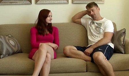 Крепкий мужик жестко порет во все дырки рыженькую подружку